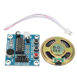 5pcs ISD1820 3-5V Recording Voice Module Recording And Playback Module SCM Control Loop Play / Jog Play / Single Play Function With Microphone And 0.5W 8R Speaker