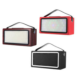 bluetooth Wireless Retro Style Radio FM LED Light Speaker Support AUX USB TF