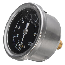 Fuel Press Pressure Regulator 1/8 Inch NPT Cm Liquid Fill Oil Gauge Boost Valve