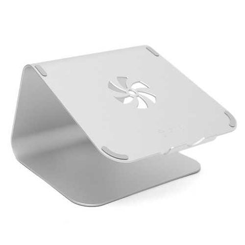 Silver Metal Notebook Laptops Stand Desktop Holder For Tablet Notebook