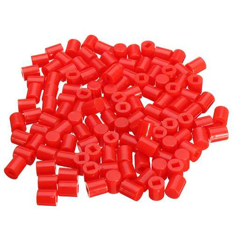 500pcs 6 x 7mm Round Button Cap Hat Suitable For 8.5 x 8.5mm / 8 x 8mm Series Of Self-locking Switch