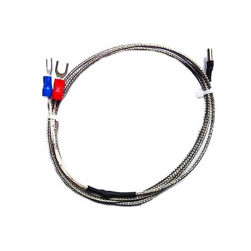 3PCS K Type Temperature Sensor 1M Cable 3x10x1000mm 0-600 Degree Thermocouple For 3D Printer