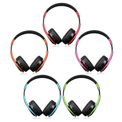 Portable Wireless Hifi Stereo Bluetooth Sports Headphone Headset Mic SD AUX