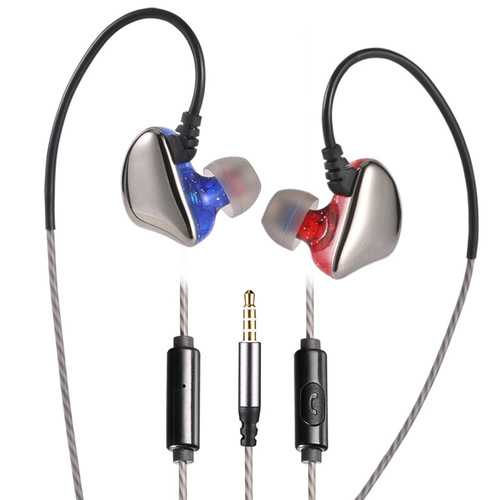 X6 In-Ear 3.5mm Wired Deep Bass Earphone Ergonomic Earphone with Microphone