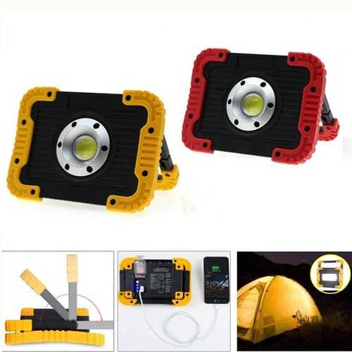 10W Portable USB Rechargeable LED COB Camping Light Outdoor Flood Light for Hiking Fishing