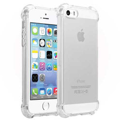 Air Bag Ultra Thin Transparent Shockproof Soft TPU Case for iPhone 5 5S SE