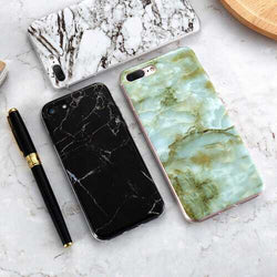 Bakeey™ Marble Shockproof Soft TPU Silicon Case for iPhone X 7/8 7Plus/8Plus