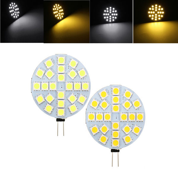 G4 3W Dimmable SMD5050 24LEDs Warm White Pure White Ligth Bulb DC12V