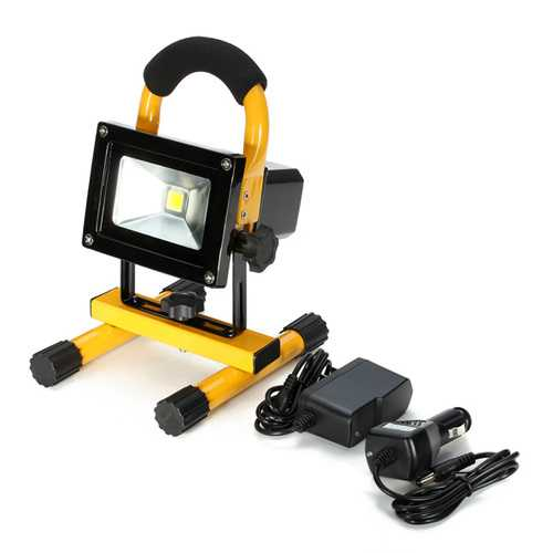 10W Portable Rechargeable LED Flood Light Work Waterproof IP65 Outdoor Car Emergency Lamp