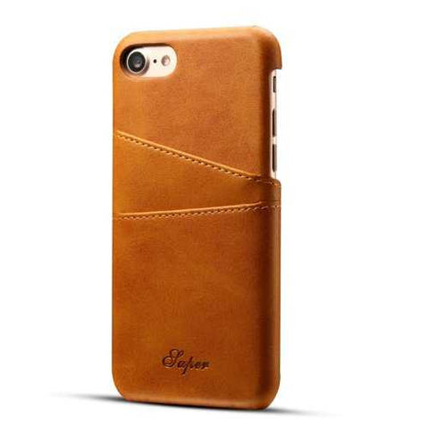 Premium Cowhide Leather Card Slot Protective Case For iPhone 6s Plus/6 Plus 5.5