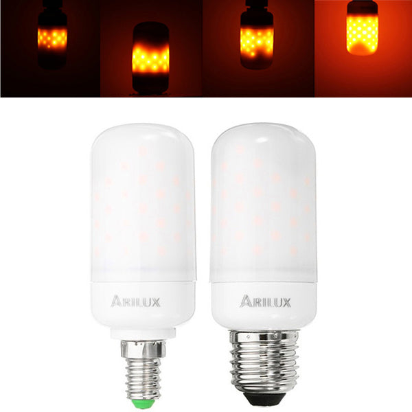 ARILUX® E27 E14 2.7W SMD2835 1595K Two Modes 63LEDs Warm White Flame Light Bulb AC85-265V