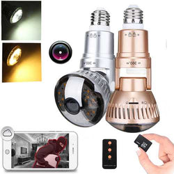 3.6mm Wireless Mirror Bulb Security Camera DVR WIFI LED Light IP Camera Motion Detection