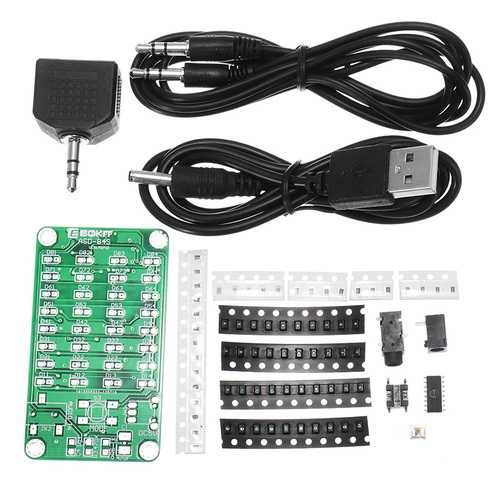 EQKIT 8*4 Level Indicator Kit SMD Soldering Practice Board Audio Spectrum Indicator Electronic Production Parts