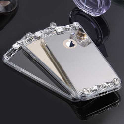 KISSCASE Diamond Glitter Clear Mirror Cover Case for iPhone X 7/7Plus