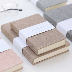 72k 128 Sheets Portable Notebook Blank Paper Linen Cover Diary Memo Sketchbook Office School