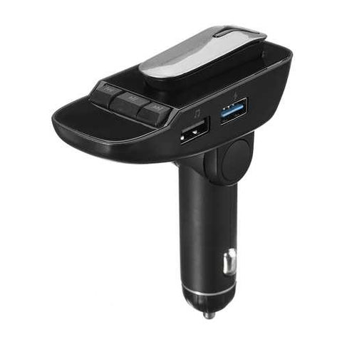 ER9 Wireless bluetooth Handsfree Auto Car FM Transmitter MP3 Player with Earphone