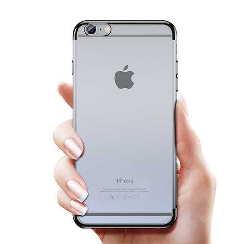 Cafele Plating Transparent Soft TPU Case For iPhone 6/6s