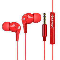 Maxchange EP01 3.5mm Stereo In-Ear Earphone Red White
