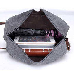 Outdoor Portable Canvas Large Capacity Accessory Storage Bag USB Cable Earphone Collection Pouch