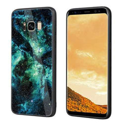 Bakeey Colorful Tempered Glass Back TPU Frame Case for Samsung Galaxy S8/S8Plus