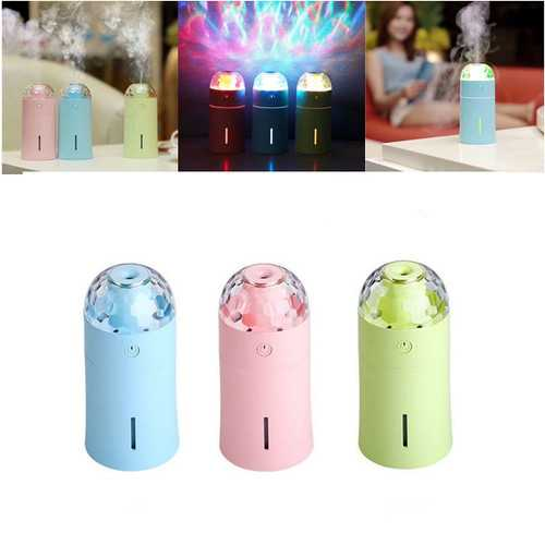 Mini 175ml Colorful USB Portable LED Night Lamp Projection Humidifier with Stage Light Effect