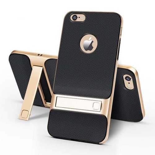 Bakeey Textured Anti Fingerprint Kickstand Case For iPhone 6 Plus/6s Plus 5.5