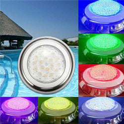 18W RGB IP68 Waterproof Resin Swimming Pool Light Multi-Color Underwater LED Night Lamp 12V