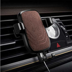 Qi Wireless Car Charger Gravity Auto Lock Anti-skip Air Vent Phone Holder Stand for Samsung iPhone X