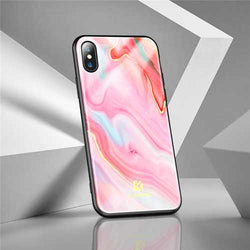 Floveme Agate Shockproof Protective Phone Case Cover For iPhone 7 iPhone 7 Plus iPhone X