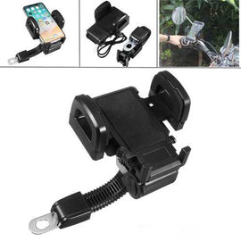 Universal Metal USB Charging Waterproof Motorcycle Scooter Phone Holder Stand for Xiaomi iPhone X