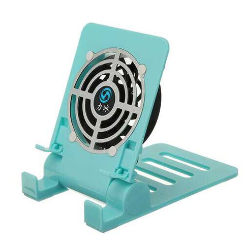 Bakeey Mini Fan Cooling Desktop Phone Holder Foldable Heat Dissipation Lazy Stand for Samsung Xiaomi