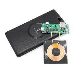DIY Qi Wireless Charger 6000mAh Power Bank Case Battery Box Kits for Smartphone