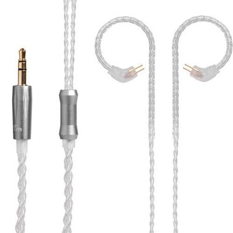 TRN Earphone Replacement Cable Upgraded Silver Plated Cable Use For TRN V10 KZ ZS6 ZS5 ZS3 ZST ZSR RT-1 TFZ