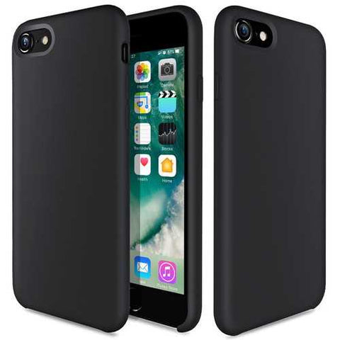 Bakeey Liquid Silicone Soft Case Microfiber Cushion Back Cover Phone Case for iPhone 7/iPhone 8