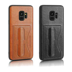 Card Slot PU Leather Kickstand Magnetic Case for Samsung Galaxy S9