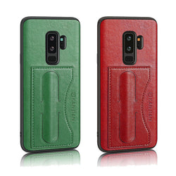 Card Slot PU Leather Kickstand Magnetic Case for Samsung Galaxy S9 Plus
