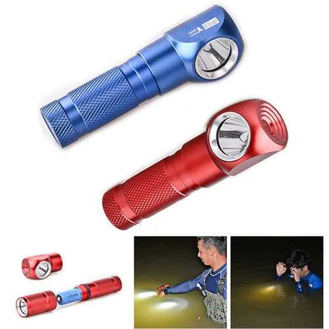 XANES HX2 XP-G2 S3 1000LM Brightness Mini LED Flashlight With L Shape Head Light 18650