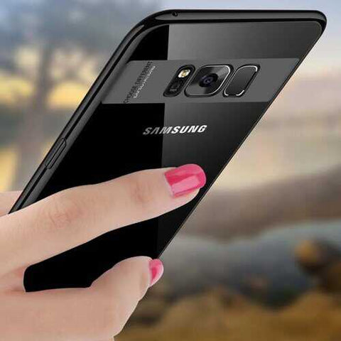 Bakeey Clear Transparent Plating Soft TPU Phone Case For Samsung Galaxy S8 Plus