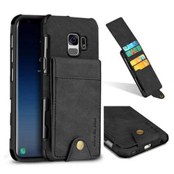 SHS Linen Pattern Multi-card Slot Protective Case for Samsung Galaxy S9