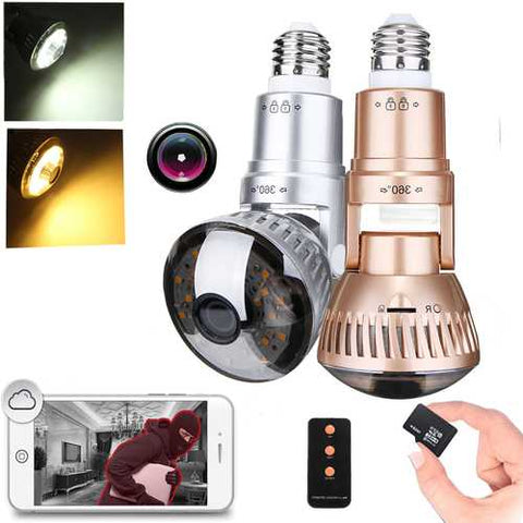 1.3MP 960P Wireless Security Camera LED Light Bulb IP Camera Motion Detection Night Vision Light Switch Control