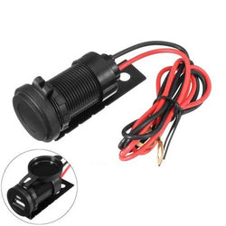 12V 1A Motorcycle USB Socket Charger with Waterproof Cap For BMW