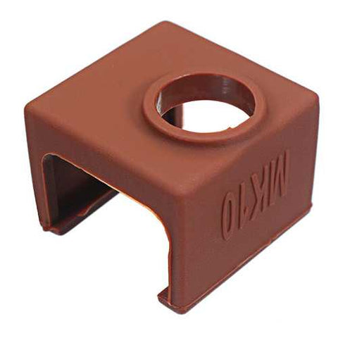 MK10 Coffee Color Silicone Protective Case For Heating Aluminum Block 3D Printer Part Hot End
