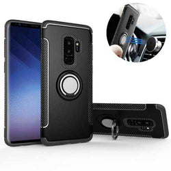 360º Rotating Ring Grip Stand Car Mount Protective Case For Samsung Galaxy S9/S9 Plus