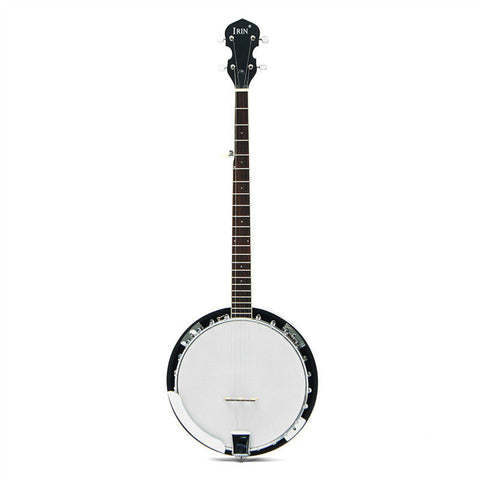 5-String 22 Fret Remo Bluegrass Banjo Guitar Mahogany Wood Traditional Western Ukulele