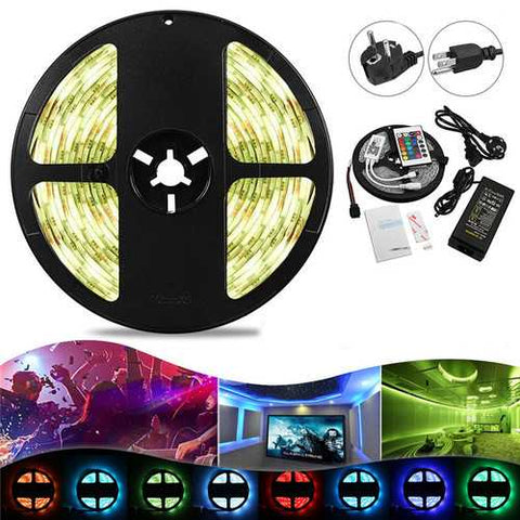 5M 48W SMD5050 RGBW Waterproof Smart Wifi Alexa Google APP Control LED Strip Lights EU US Plug DC12V