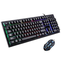 G20 104 Keys Mechanical Hand Feel Colorful Backlight Gaming Keyboard and Mouse Combo Set