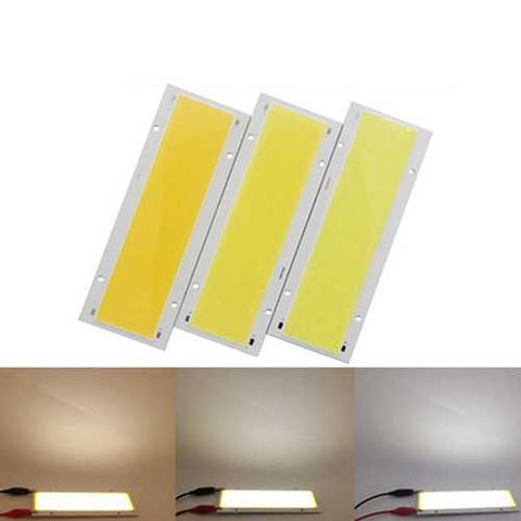 High Power DC12-14V 15W LED Beads COB Chip Light DIY 140x50mm Dimmable Flashing Strip with RF Remote
