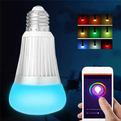 E27 B22 7W SMD5730 WiFi RGBW LED Smart Bulb Light Work With echo Alexa AC85-265V
