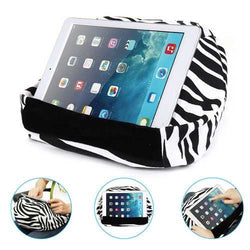 Universal Soft Canvas Reading Tablet iPad Lazy Pillow Stand Cellphone Holder
