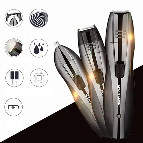 3in1 Hair Clipper Hair Nose Trimmer Beard Shaver